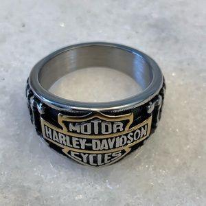 Harley Davidson Stainless Steel Bikers Ring
